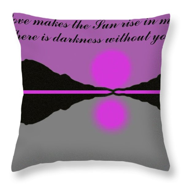 Your Love Throw Pillow by George Pedro