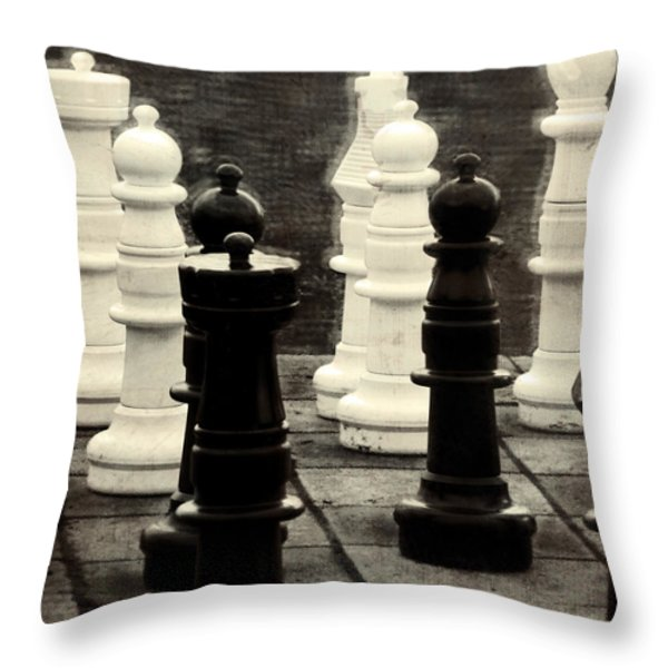 Your Move Throw Pillow by Colleen Kammerer