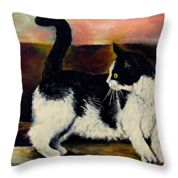 Your Pets Commission Me To Paint Throw Pillow by Carole Spandau