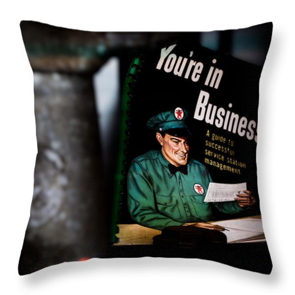 Youre In Business Throw Pillow by Bob Orsillo