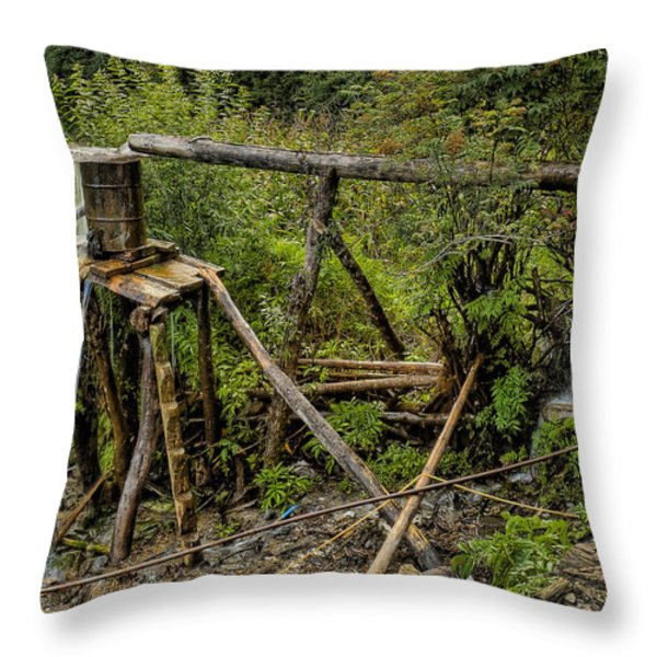 Yubeng Water works Throw Pillow by James Wheeler