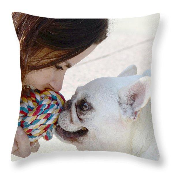 Yummmm Throw Pillow by Lisa  Phillips