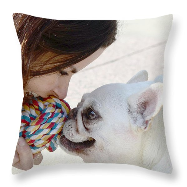 Yummmm Throw Pillow by Lisa  Phillips