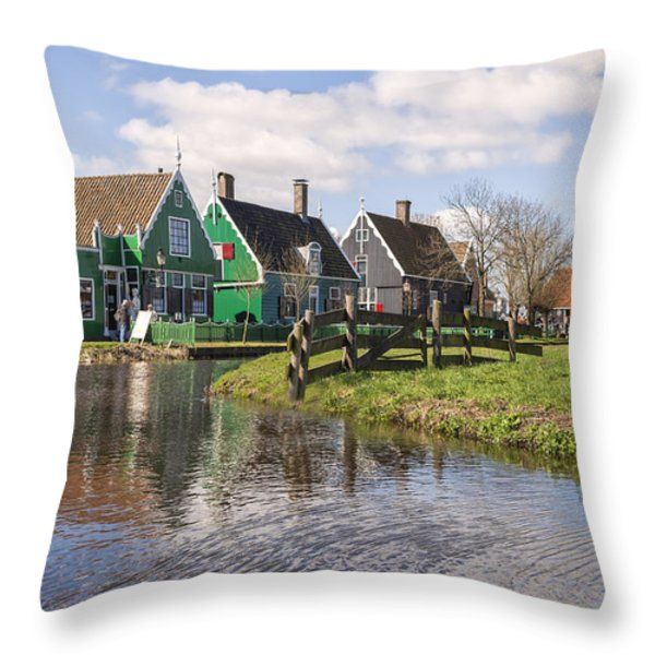 Zaanse Schans Throw Pillow by Joana Kruse