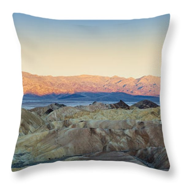 Zabriskie Point Panorana Throw Pillow by Jane Rix