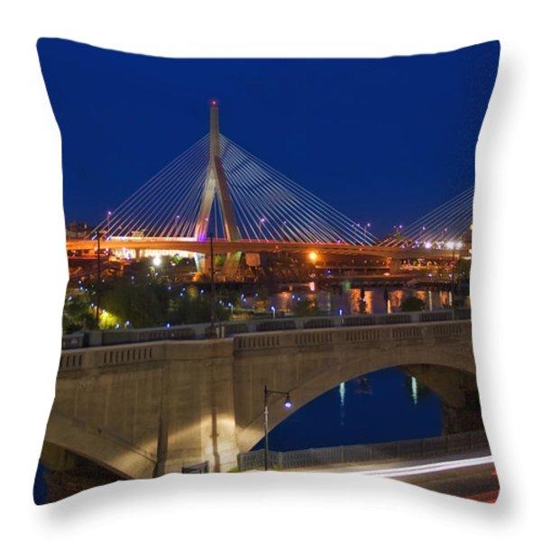 Zakim at Night 2 Throw Pillow by Joann Vitali