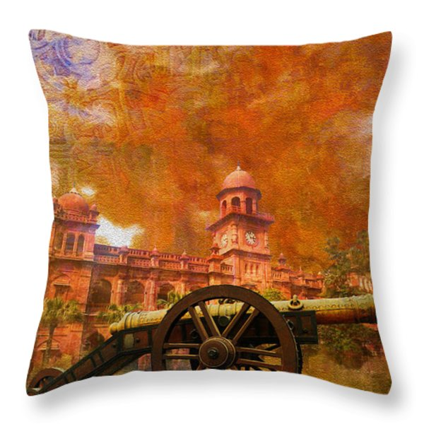Zamzama Tope or Kim's Gun Throw Pillow by Catf