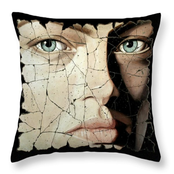 Zara Throw Pillow by Steve Bogdanoff