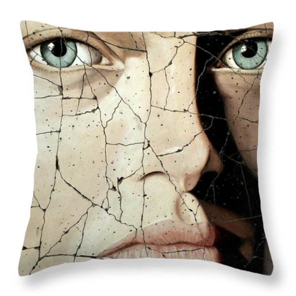 Zara - Study No. 1 Throw Pillow by Steve Bogdanoff