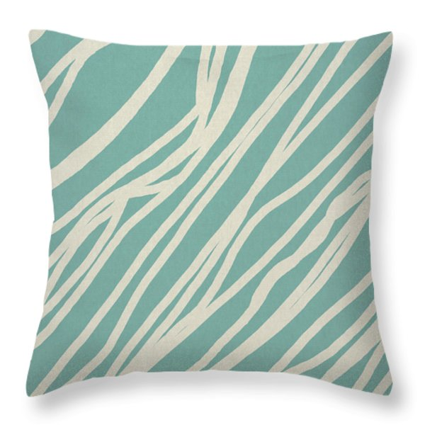 Zebra Throw Pillow by Aged Pixel