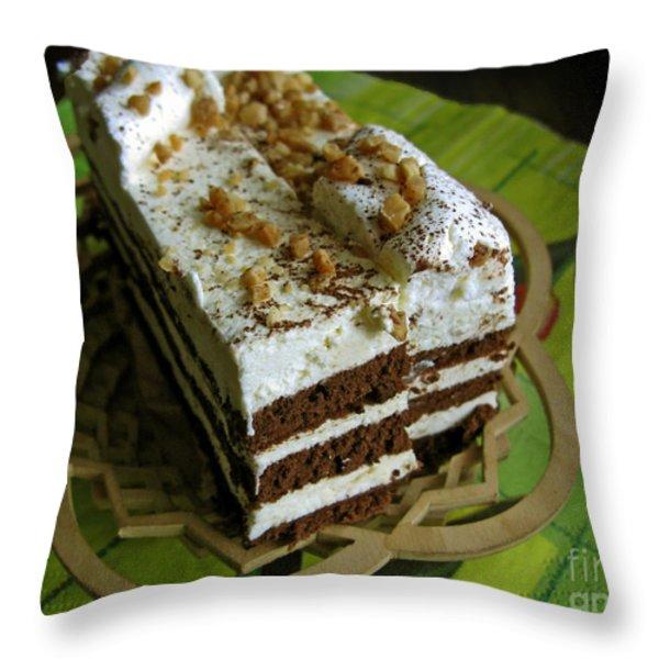 Zebra Cake Throw Pillow by Ausra Paulauskaite