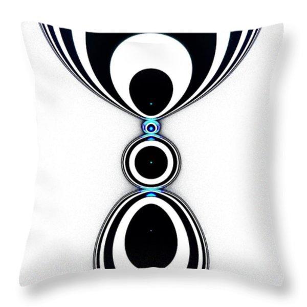 Zebra Jewels Throw Pillow by Anastasiya Malakhova