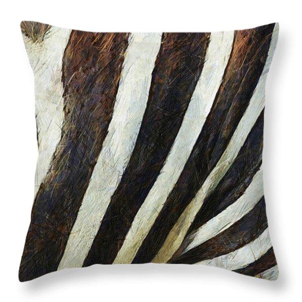 Zebra Texture Throw Pillow by Ayse Deniz