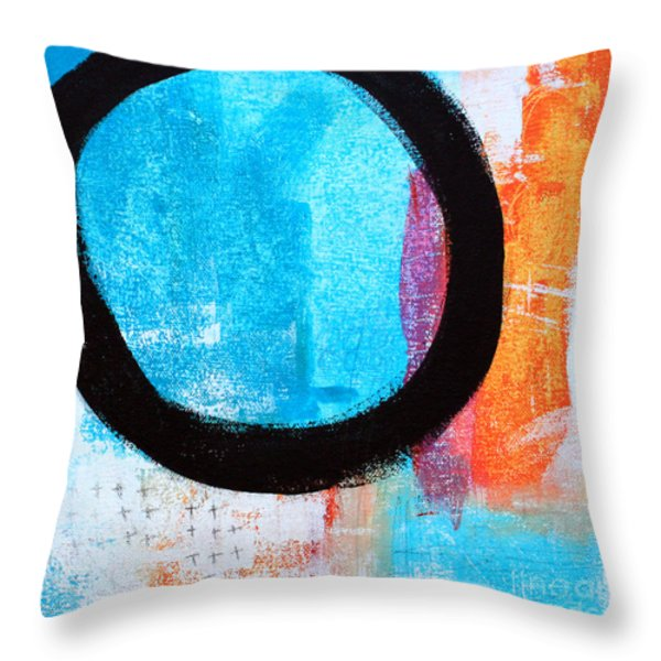 Zen Abstract #32 Throw Pillow by Linda Woods