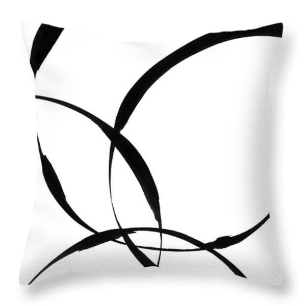 Zen Circles 2 Throw Pillow by Hakon Soreide
