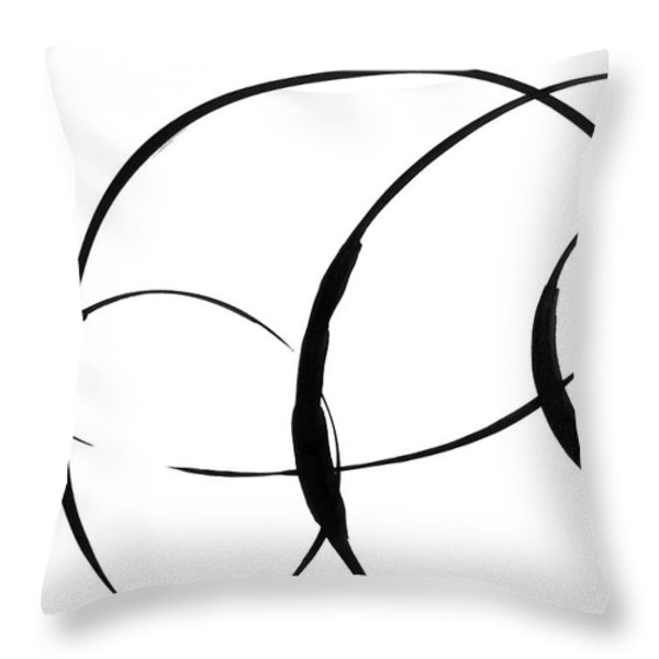 Zen Circles 3 Throw Pillow by Hakon Soreide