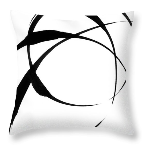 Zen Circles 4 Throw Pillow by Hakon Soreide