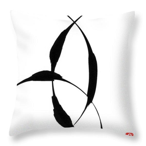 Zen Circles 5 Throw Pillow by Hakon Soreide