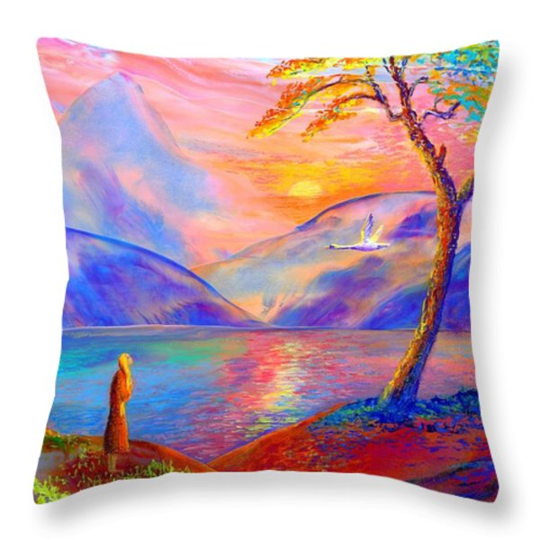 Zen Throw Pillow by Jane Small