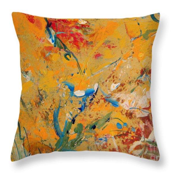 Zen  Throw Pillow by Nancy Kane Chapman