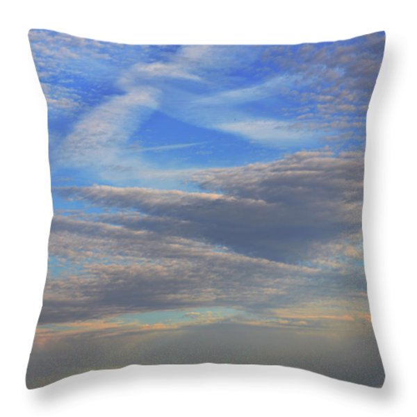 Zen Skies Abstract Throw Pillow by AdSpice Studios