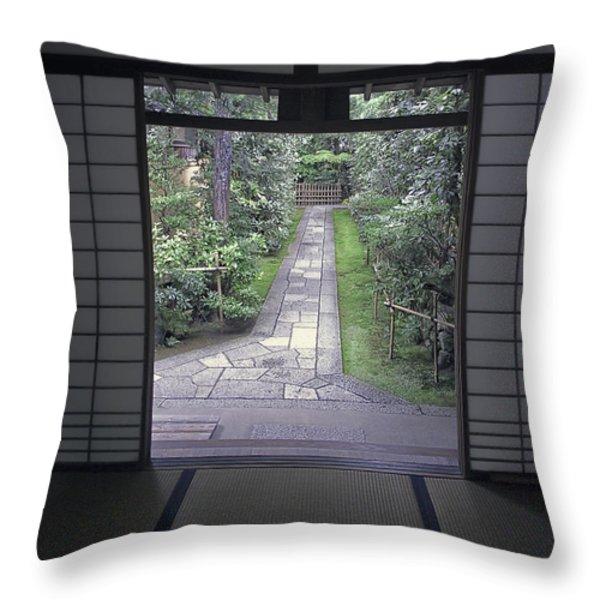 ZEN TEA HOUSE DREAM Throw Pillow by Daniel Hagerman