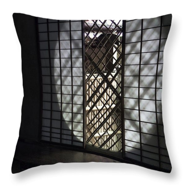 ZEN TEMPLE WINDOW - KYOTO Throw Pillow by Daniel Hagerman