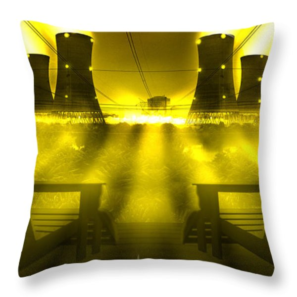 Zero Hour in Yellow Throw Pillow by Mike McGlothlen