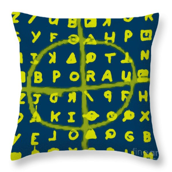 Zodiac Killer Code and SIgn 20130213p68 Throw Pillow by Wingsdomain Art and Photography