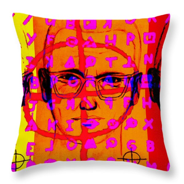 Zodiac Killer Three With Code and SIgn 20130213 Throw Pillow by Wingsdomain Art and Photography