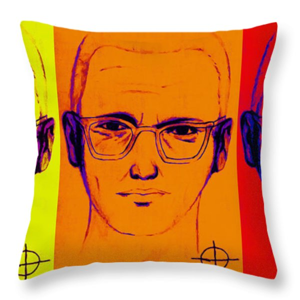 Zodiac Killer Three With Sign 20130213 Throw Pillow by Wingsdomain Art and Photography