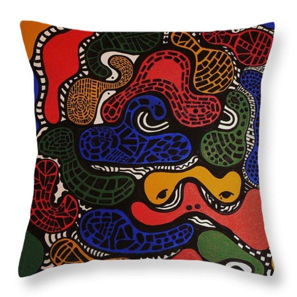Zoomed In Throw Pillow by Barbara St Jean