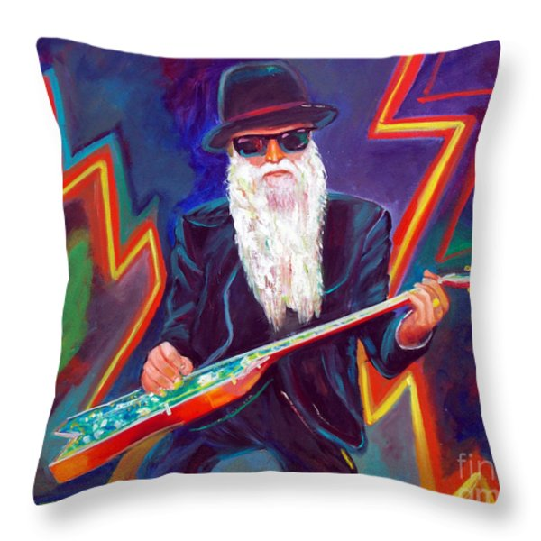 Zz Top 3 Throw Pillow by To-Tam Gerwe