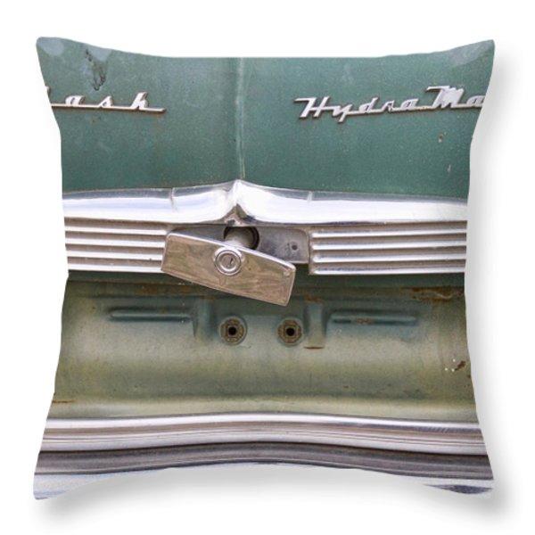 1951 Nash Ambassador Hydramatic Back Throw Pillow by James BO  Insogna
