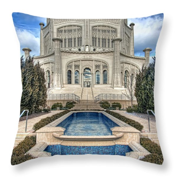 Baha'i Temple Throw Pillow by Scott Norris