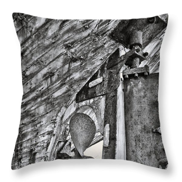 boat propeller Throw Pillow by Stylianos Kleanthous