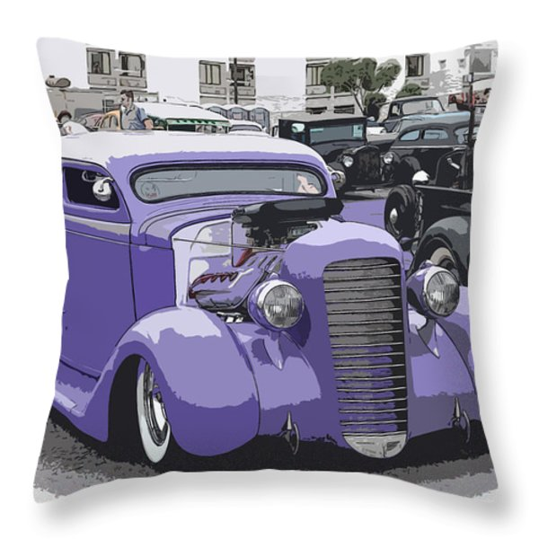 Hot Rod Purple Throw Pillow by Steve McKinzie