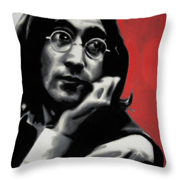 - Imagine - Red Detail - Throw Pillow by Luis Ludzska