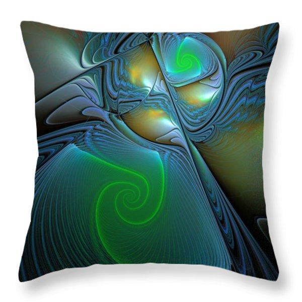 Light In The Dark Throw Pillow by Deborah Benoit