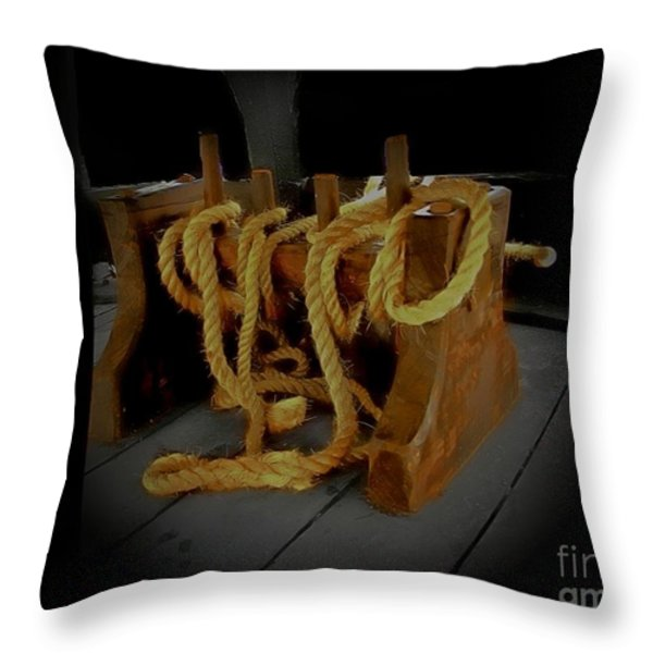 Notorious The Pirate Ship 2 Throw Pillow by Blair Stuart