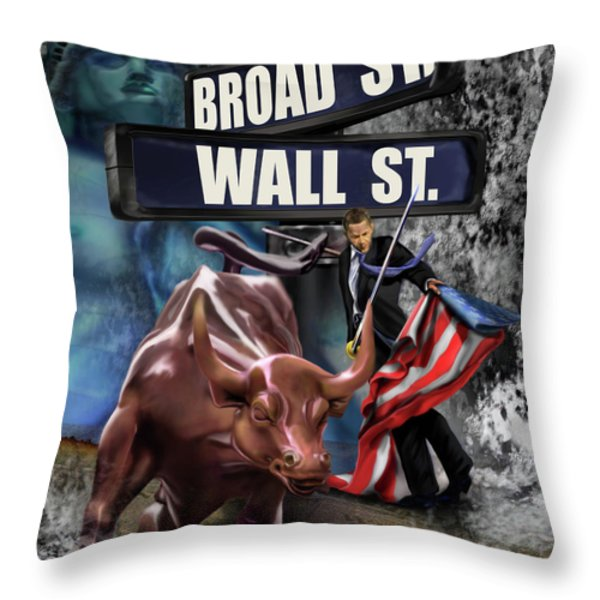 Ole  Obama - Ole - Ole - Ole Throw Pillow by Reggie Duffie