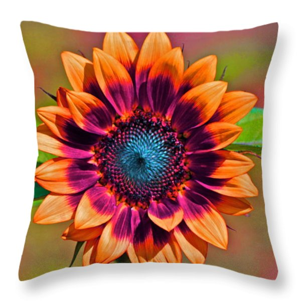 Orange Flowers In Their Buttonholes Throw Pillow by Gwyn Newcombe