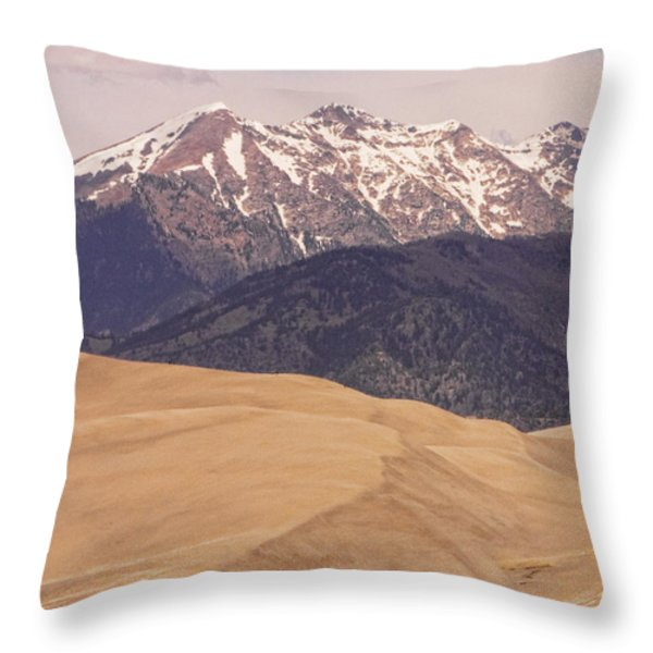 The Wind Carries Sand And Rocks From Many Miles Away. The Dunes Contain Areas Of Black Sand Which A Throw Pillow by James BO  Insogna