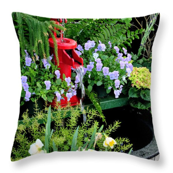 0021 Botanical Gardens Buffalo Ny Series Gardens Throw Pillow by Michael Frank Jr