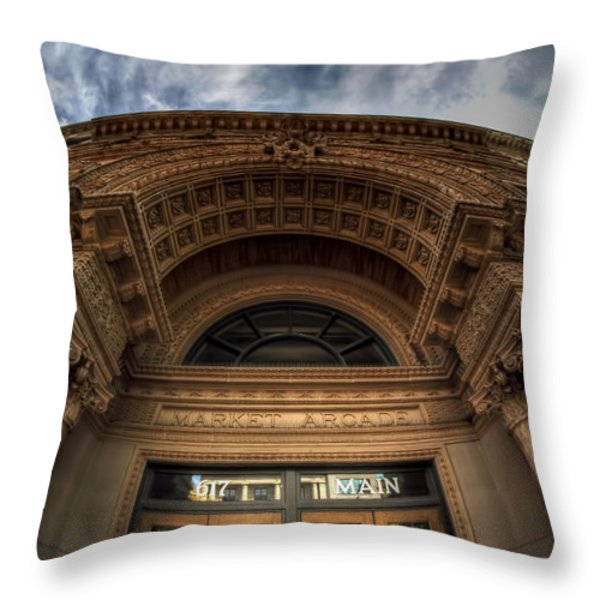 008 Architectural Beauty Of Downtown Buffalo Series Throw Pillow by Michael Frank Jr