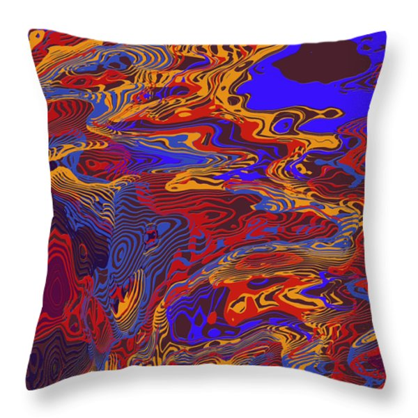 0696 Abstract Thought Throw Pillow by Chowdary V Arikatla