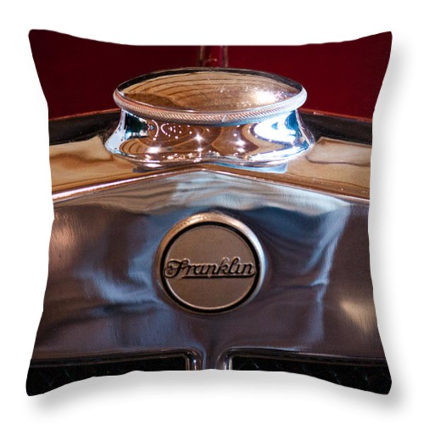 1929 Franklin Model 130 2-door Coupe Throw Pillow by David Patterson