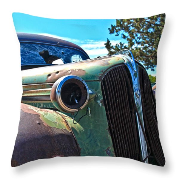 1937 Plymouth Throw Pillow by Steve McKinzie