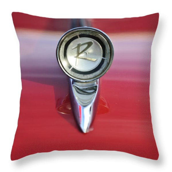 1961 Rambler Hood Ornament Throw Pillow by Jill Reger