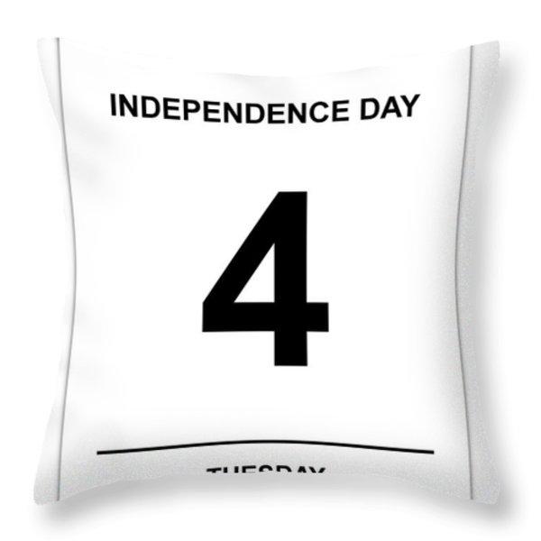 4th July Throw Pillow by Henrik Lehnerer
